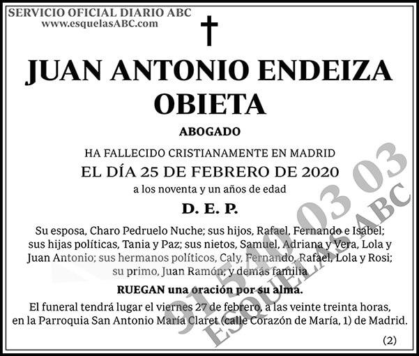 Juan Antonio Endeiza Obieta