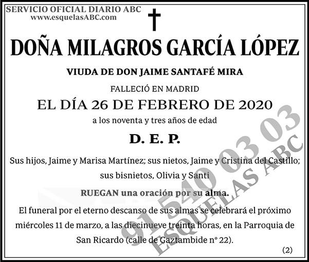 Milagros García López