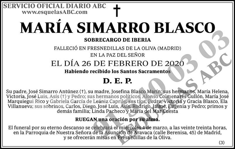 María Simarro Blasco